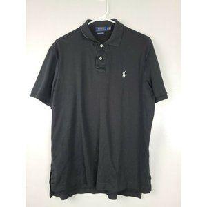 Ralph Lauren Black Short Sleev Collared Polo Shirt